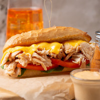 Levan Bros. 22-Count Case of 8 oz. Portions Marinated Chicken Steak Sandwich Slices - 10 lb.