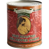 Assagio Classico #10 Can Fire Roasted Red Pepper Strips - 6/Case