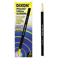 Dixon Ticonderoga 00077 Black Standard China Marker   - 12/Pack