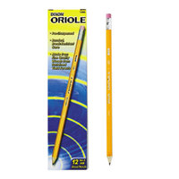 Dixon 12886 Oriole Woodcase Yellow Barrel HB Lead #2 Presharpened Pencil   - 12/Pack