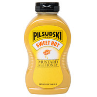 Pilsudski 12 oz. Sweet Hot Honey Mustard Squeeze Bottle - 12/Case