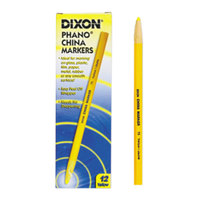 Dixon Ticonderoga 00073 Yellow Standard China Marker - 12/Pack