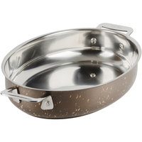 Bon Chef 60019COFFEE Cucina 1.5 Qt. Coffee Stainless Steel Oval Au Gratin Dish