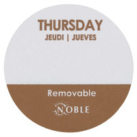 "Noble Products Thursday 1"" Removable Day of the Week Label - 1000/Roll"