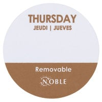"""Noble Products Thursday 1"""" Removable Day of the Week Label - 1000/Roll"""