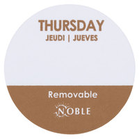 Noble Products Thursday 1 inch Removable Day of the Week Label - 1000/Roll