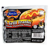 Kunzler 5 1/4 inch 8-Pack Grill Franks - 12 lb.