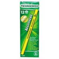 Dixon 13080 Ticonderoga Beginners Woodcase Yellow Barrel HB Lead #2 Pencil without Eraser   - 12/Pack