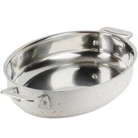 Bon Chef 60019DESERT Cucina 1.5 Qt. Desert Stainless Steel Oval Au Gratin Dish