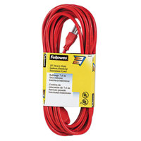 Fellowes 99597 25' Orange Heavy-Duty Indoor / Outdoor Extension Cord with 3-Prong Plug