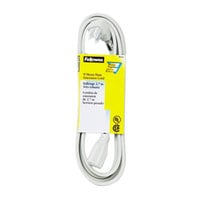 Fellowes 99595 9' Gray Heavy-Duty Indoor Extension Cord with 3-Prong Plug