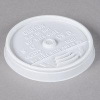 Dart 12UL White Plastic Sip Thru Lid - 100/Pack