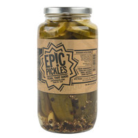 Epic Pickles 32 oz. Garlic Dill Pickles   - 12/Case