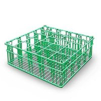 25 Compartment Catering Glassware Basket - 3 1/2 inch x 3 1/2 inch x 3 3/8 inch Compartments