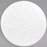 Enjay 1/2-12RW12 12 inch Fold-Under 1/2 inch Thick White Round Cake Drum - 12/Case
