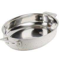 Bon Chef 60020DESERT Cucina 1.2 Qt. Desert Stainless Steel Oval Au Gratin Dish