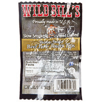 Wild Bill's 1 oz. Hickory Smoked Tender Tips Beef Jerky   - 12/Case
