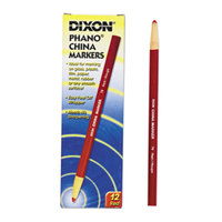 Dixon 00079 Red Standard China Marker - 12/Pack