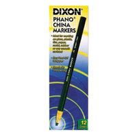 Dixon 00074 Green Standard China Marker - 12/Pack