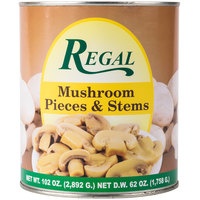 Regal Foods Mushroom Pieces & Stems - #10 Can - 6/Case