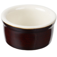 Tuxton B1X-025 DuraTux 2.5 oz. Caramel / Ivory (American White) Smooth China Ramekin - 48/Case