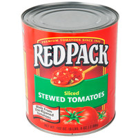 Red Gold #10 Can Redpack Sliced Stewed Tomatoes - 6/Case
