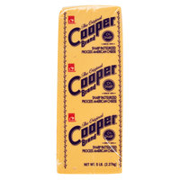 Cooper Cheese CV Sharp Yellow American Cheese - 5 lb. Solid Block