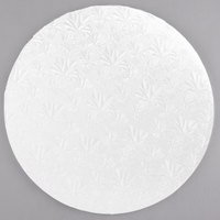 Enjay 1/2-14RW12 14 inch Fold-Under 1/2 inch Thick White Round Cake Drum - 12/Case