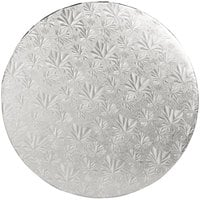 Enjay 1/2-14RS12 14 inch Fold-Under 1/2 inch Thick Silver Round Cake Drum - 12/Case