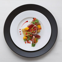 Chef & Sommelier S2502 Olea 11 1/8 inch White Porcelain Dinner Plate by Arc Cardinal - 24/Case