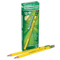 Dixon 13308 Ticonderoga Woodcase Round Yellow Barrel HB Lead Beginners #2 Pencil   - 12/Pack