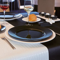 Chef & Sommelier S2601 Olea 11 1/8 inch Black Porcelain Dinner Plate by Arc Cardinal - 24/Case