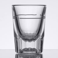 Libbey 5126/S0711 2 oz. Fluted Whiskey / Shot Glass with .875 oz. Cap Line   - 12/Case