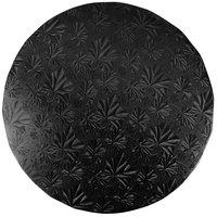 Enjay 1/2-10RB12 10 inch Fold-Under 1/2 inch Thick Black Round Cake Drum - 12/Case