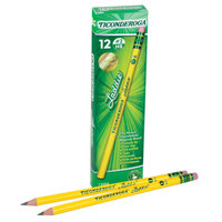 Dixon 13304 Ticonderoga Laddie Woodcase Yellow Barrel HB Lead #2 Pencil   - 12/Pack