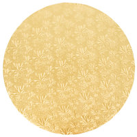Enjay 1/2-18RG12 18 inch Fold-Under 1/2 inch Thick Gold Round Cake Drum - 12/Case
