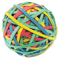 Universal UNV00460 3 inch Diameter Assorted Color Rubber Band Ball