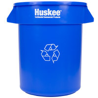 Continental 2000-1 Huskee 20 Gallon Blue Round Recycling Bin