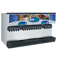 Servend 2706244 MDH-402 20 Valve Push Button Countertop Ice/Beverage Dispenser with Icepic and 400 lb. Ice Storage