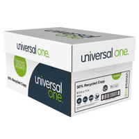 Universal UNV20050 8 1/2 inch x 11 inch Bright White Case of 50% Recycled 20# Copy Paper   - 5000/Sheets
