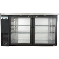 Avantco UBB-24-60G 60 inch Narrow Glass Door Back Bar Cooler Stainless Steel Top and LED Lighting