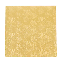 Enjay 1/4-10SG24 10 inch Fold-Under 1/4 inch Thick Gold Square Cake Drum - 24/Case