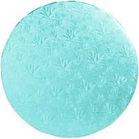 Enjay 1/2-14RBLUE12 14 inch Fold-Under 1/2 inch Thick Blue Round Cake Drum - 12/Case