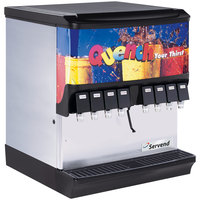 Servend 2706256 SV-200 8 Valve Push Button Countertop Ice/Beverage Dispenser with 200 lb. Ice Storage
