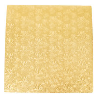 Enjay 1/2-18SG12 18 inch Fold-Under 1/2 inch Thick Gold Square Cake Drum - 12/Case