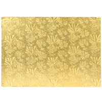 Enjay 1/2-9341334G12 13 3/4 inch x 9 3/4 Fold-Under 1/2 inch Thick Quarter Sheet Gold Cake Board - 12/Case