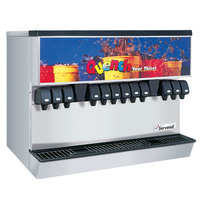 Servend 2706219 MDH-302 12 Valve Push Button Countertop Ice/Beverage Dispenser with 300 lb. Ice Storage