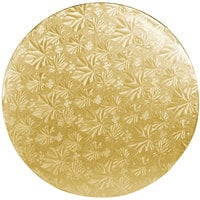 Enjay 1/2-12RG12 12 inch Fold-Under 1/2 inch Thick Gold Round Cake Drum - 12/Case
