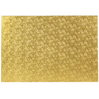 Enjay 1/2-17122512G12 25 1/2 inch x 17 1/2 inch Fold-Under 1/2 inch Thick Full Sheet Gold Cake Board - 12/Case