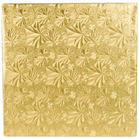 Enjay 1/2-10SG12 10 inch Fold-Under 1/2 inch Thick Gold Square Cake Drum - 12/Case